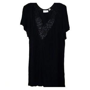 Avenue Black Embellished Blouse - 18/20